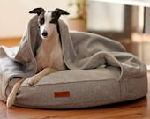 Cave bed for pets grey