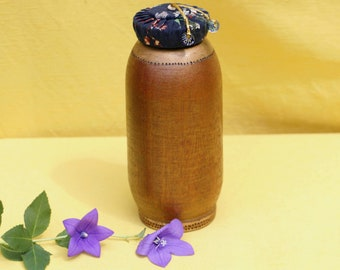 Gold Glitter Urn, Keepsake Urn for Human Ashes, Sharing Urn Loved One, Cremation Urn, Wooden Urn for Human Remains, Small Urn Natural