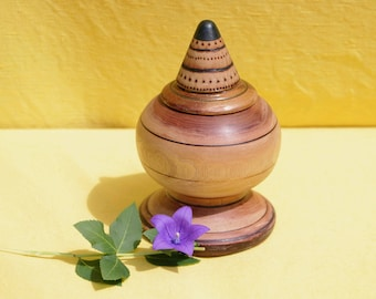 Recycled Wooden Urn for Human Ashes, Keepsake Urn Loved One, Small Cremation Urn for Human Remains, Sharing Urn for Ashes, Unique Urn Nature
