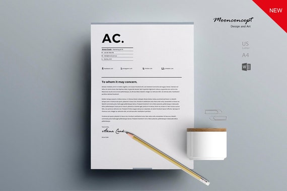 Modern Resume Template and CV Template + Cover Letter | Professional and  Creative Resume | Teacher Resume | Word Resume | Nurse Resume