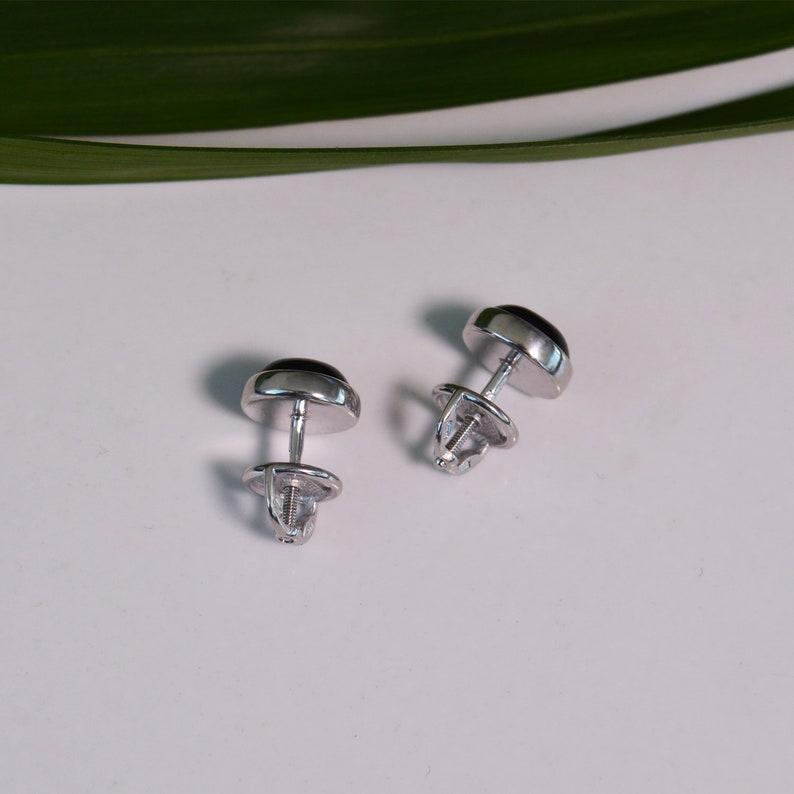 Everyday Earrings Gemstone Earrings Black Onyx Earrings Black Stud Earrings Boho Silver Studs Minimalist Earrings Onyx Silver Studs