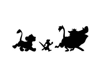 The Lion King Decal Sticker Featuring Simba Timon and Pumbaa Hakuna Matata Disney Inspired Animated Film Decor