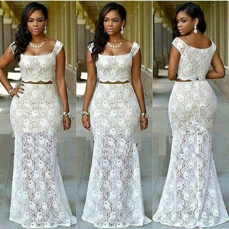 White Lace African Print Mermaid Gown For Women Dashiki Women S Clothing Ankara Wedding Dress Wedding Guest Gown Prom Gown Kitenge Kente