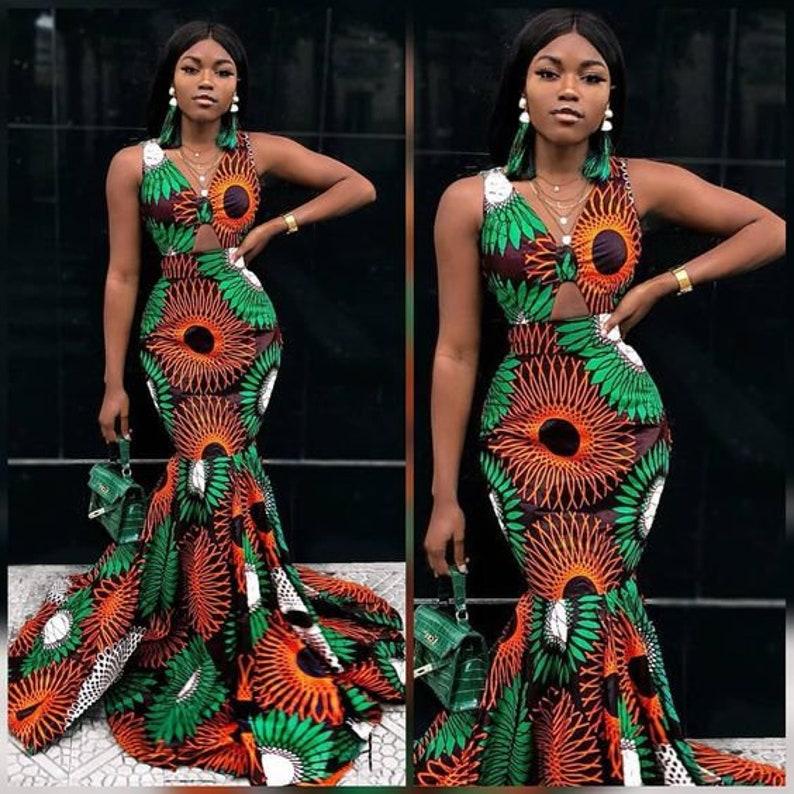 d21259da42cfc African print mermaid gown for women/ Dashiki women's | Etsy