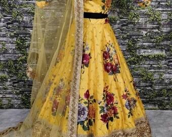 Traditional Lehenga Choli Floral Lehenga Ethnic Wear Indian Etsy