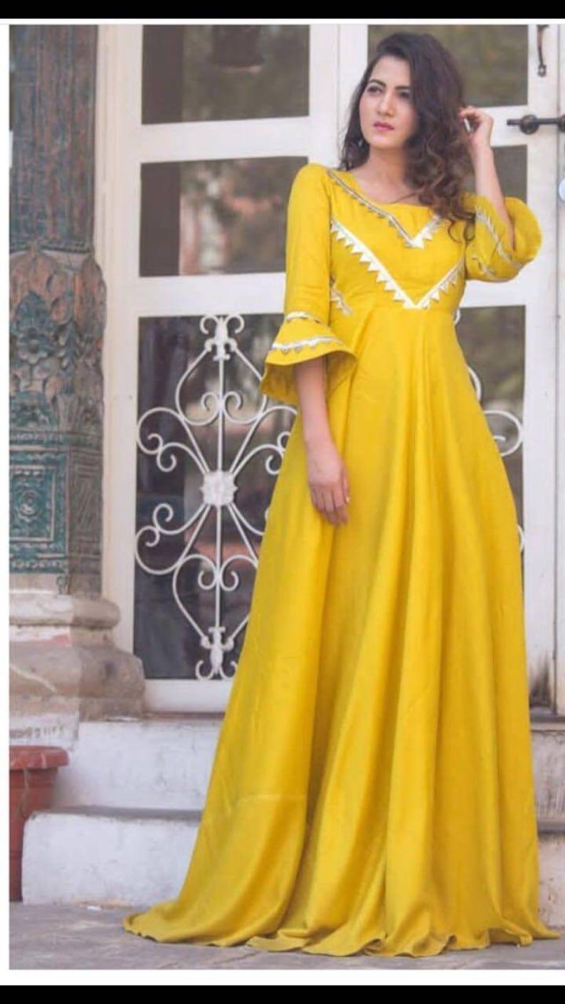 f0fe7f5de Ethnic designer gown Indian gown Indian dress Pakistani dress | Etsy