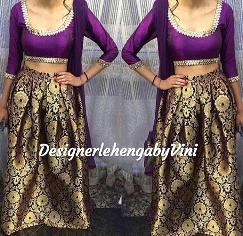 Indian designer traditional lehenga choli crop top and lehenga indian lehenga choli lengha choli
