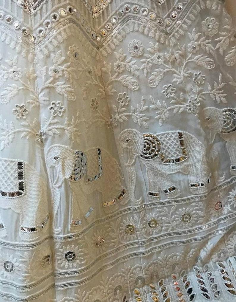 Chikankari gota patti lehenga designer skirt designer lehenga lengha Indian dress traditional lehenga banarasee lehenga