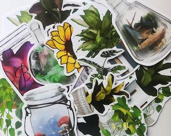 Plant Sticker Pack Aesthetic, Mystery Box, Mystery Bag, Penpal Grab Bag, Fall Stationary, Stationery, Kawaii Grab Bag, Budget Stickers.