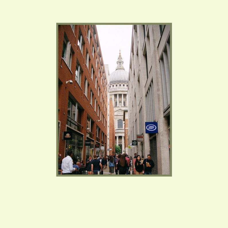 Bustling London Sidewalk