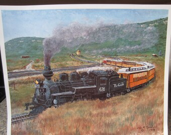 Vintage Photo of Narrow Gauge Railway Avila Beach California