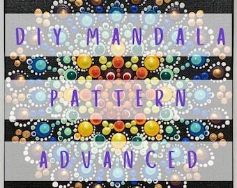 DIY Mandala Pattern - Rainbow Flower
