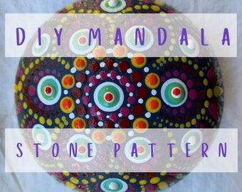 "DIY Mandala Stone Pattern - ""Fiesta"""