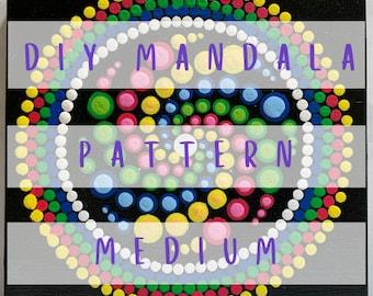 DIY Mandala Pattern - Neon Candy Spiral
