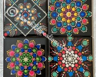 Mandala Coasters - Pink Medley
