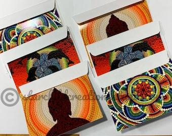 Set of 6 Original Notecards with Envelopes