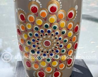 3D Mandala Mug - Peach Radiance Spiral