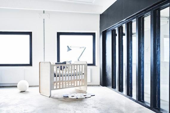 Baby bed baby crib cribs cradles cot baby bett lit etsy for Bett scandinavian design