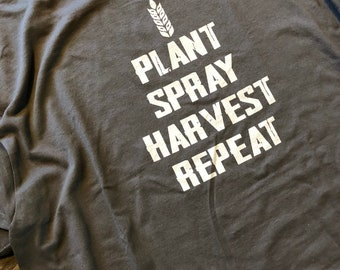 Hoodie - plant spray harvest repeat