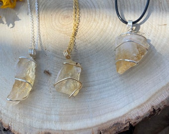 Citrine Gold Plated Wire Wrapped Crystal 23\u201d Natural Hemp Necklace with Citrine /& Tigers Eye Beads