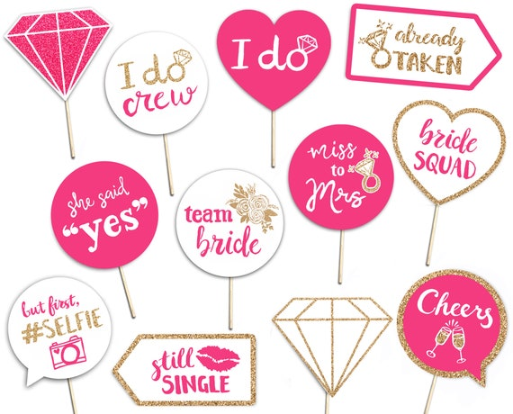Bride RBZRX Bachelorette Selfie Frame Pink Gold Photo Prop Editable Instant Download Printable Tassels Bridal Shower Photo Booth Frame
