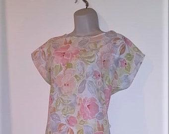 1980's Vintage St Michael (old M&S) Drop Waist Dress Size 14