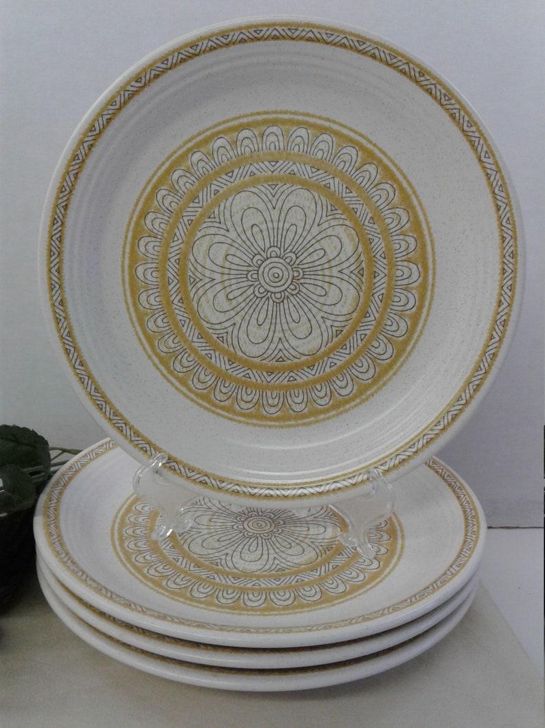 by Franciscan 1965-1983 Hacienda Gold set of 6 plates USA Dinnerware Plates