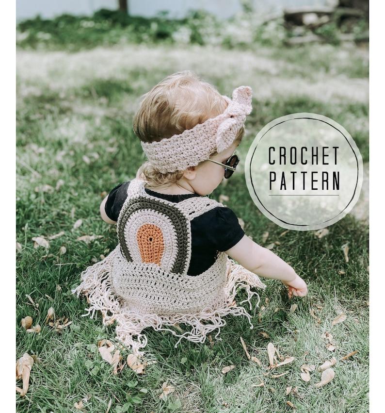 The Rustic Rainbow Boho Vest Crochet Pattern  Crochet Vest image 0