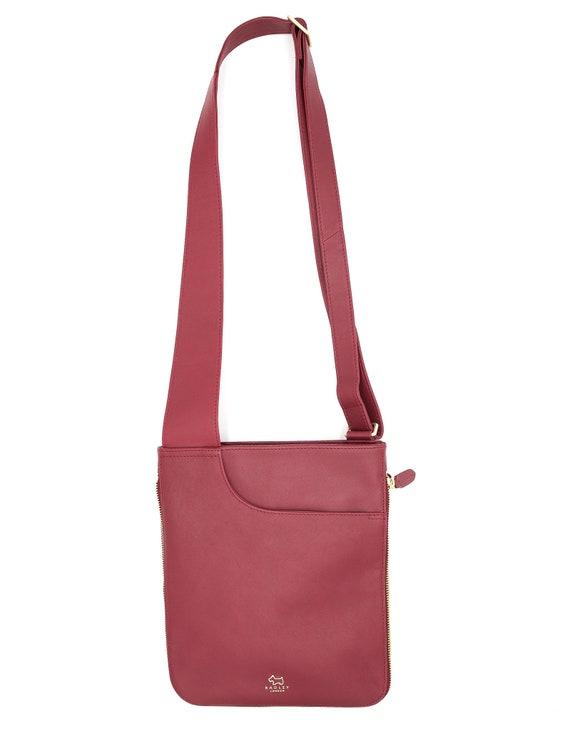 Burgundy Leather Messenger Bag - Vintage Bags - Vi