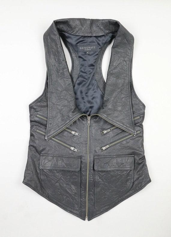 SkinGraft Designs Long Leather Vest - Size Medium
