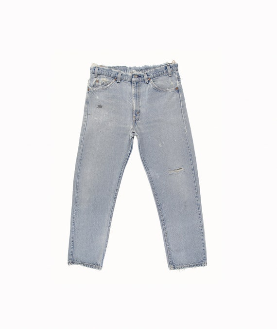Distressed Light Blue Jeans - Vintage Levis Jeans