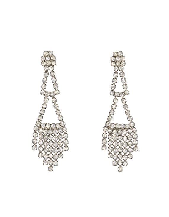 Triangle Dangle Earrings - Vintage Earrings - Vint