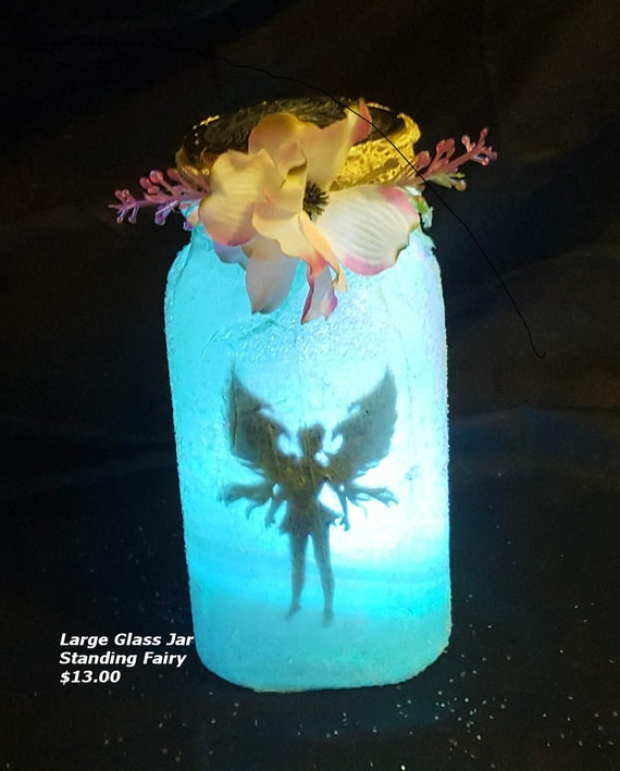 Fairy Jar (Quart size) with Standing Fairy