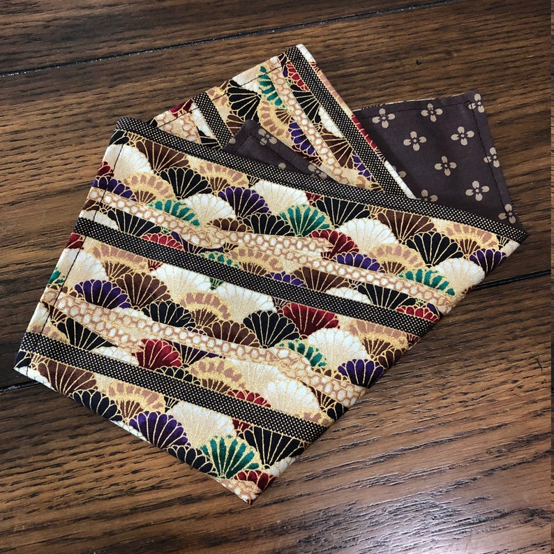 Hanky Everyday Carry Eclectic Hank Handkerchief EDC Everyday Carry Hank EDC handkerchief Asian Inspired Gold EDC Gear 100/% Cotton