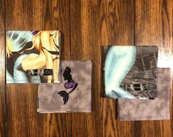 EDC Gear Hank, EDC Handkerchief, Embroidered Mermaid Hanky, Everyday Carry Handkerchief, EDC Hank, Sexy Hank, Pocket Square, Women's edc