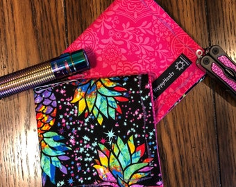 EDC Hank, Pink, Pineapple EDC Gear Hank, Lady Hank, Everyday Carry Hankerchief, Every Day Carry, Pocket Square, 100% Cotton