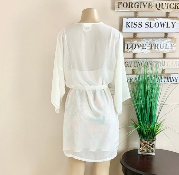Lucie Ann   Vintage Floral Robe And Nightgown Sz M - image 5