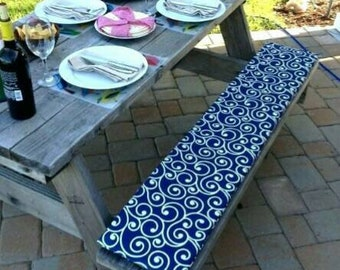 Cool Custom Made Picnic Table Bench Cushions Etsy Andrewgaddart Wooden Chair Designs For Living Room Andrewgaddartcom