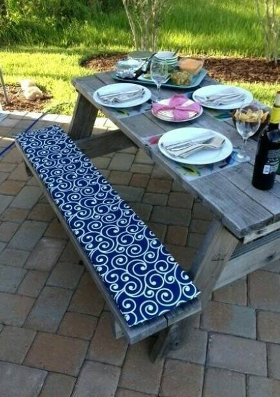 Outstanding Custom Made Picnic Table Bench Cushions Andrewgaddart Wooden Chair Designs For Living Room Andrewgaddartcom