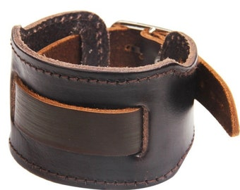 Wide Cuff Vintage Leather Bracelet
