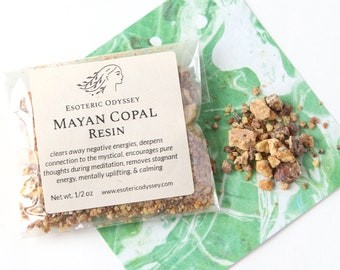 Mayan Copal Resin ~ 1/2oz Biodegradable Package ~ Aromatherapy Herbs & Resins ~ Incense ~ Granulated ~ Balance ~ Purify ~ Uplift