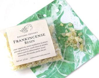 Frankincense Resin ~ 1/2 oz Biodegradable Package  ~ Aromatherapy Herbs & Resins ~ Incense ~ Granulated ~ Healing ~ Balance ~ Meditation