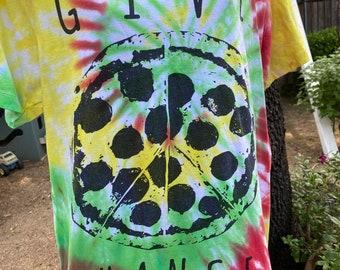 Rasta Tie Dye Shirt  Give Pizza A Chance  Peace Tye Dye
