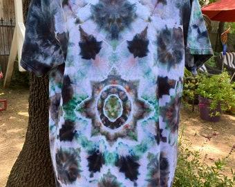 Mandala Tie Dye Shirt  Earth Tones  Gift for Dad  Tye Dye