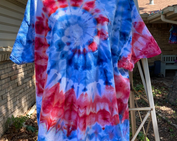 4th of July Tie Dye  Red White and Blue Shirt  merica  Trending Tee