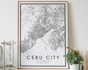 CEBU PHILIPPINES Street Sign Filipino flag city country road wall gift