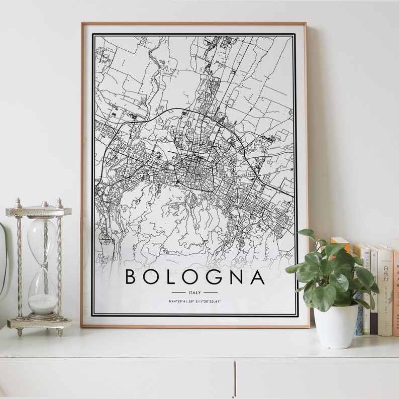 BOLOGNA mappa della città Download digitale stampa in ...