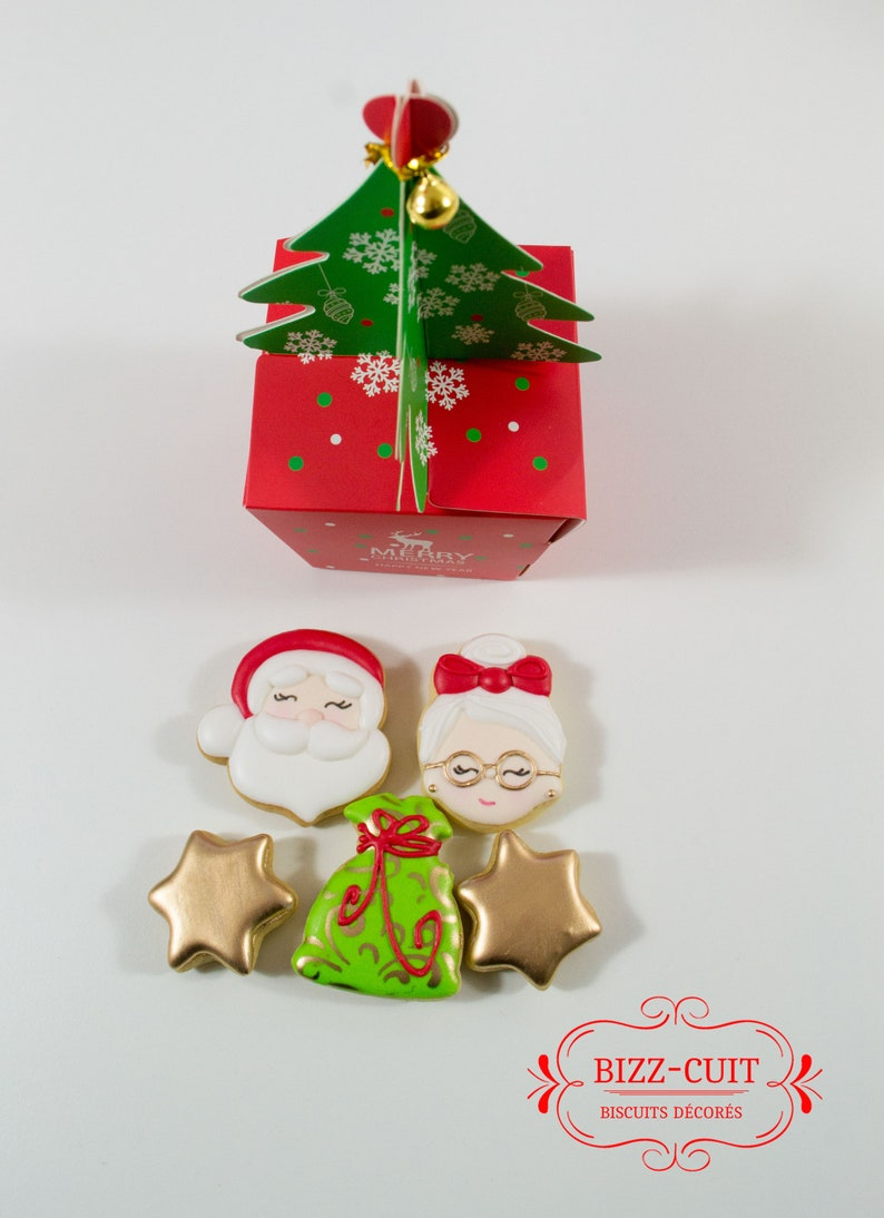 Santa Claus face Cookie CutterMerry Christmas Noël Biscuit Sucre Cookies