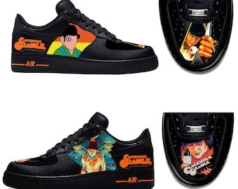 680c0b7afc452e Custom Nike Air Force 1 Clockwork Orange Sneakers