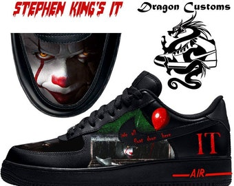 best sneakers 6367c eecac Stephen King's IT 2017 Custom Nike Air Force 1 Sneakers